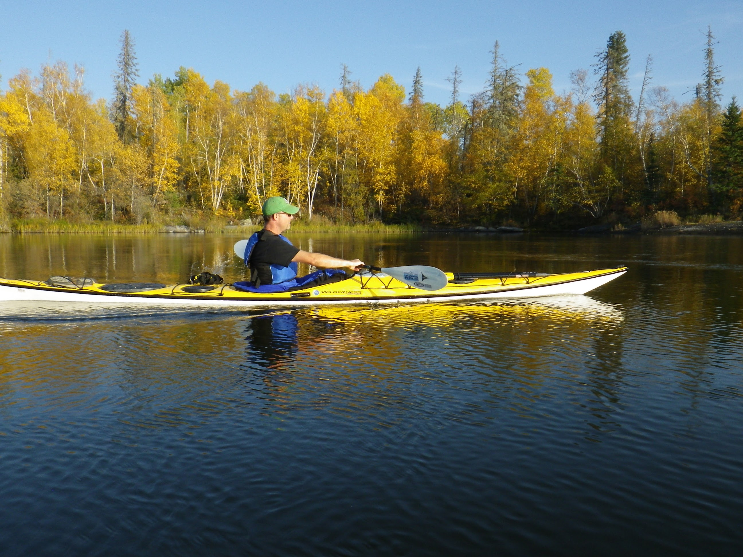 Rob kayaking on the Churchill River