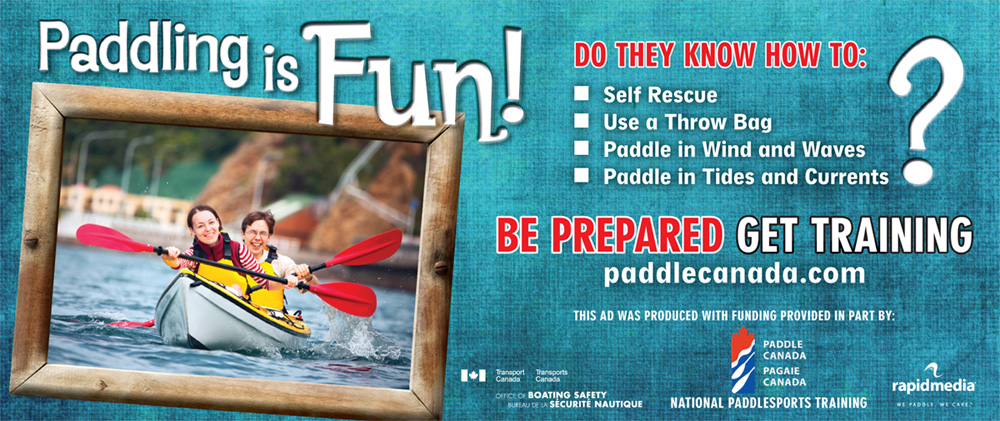 Paddle Canada kayak promotional poster